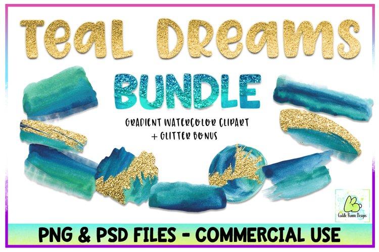 Brush Strokes,Watercolor,Splashes,Glitter,Bundle,Sparkle