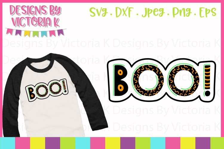 Boo, Halloween, SVG, DXF,PNG example