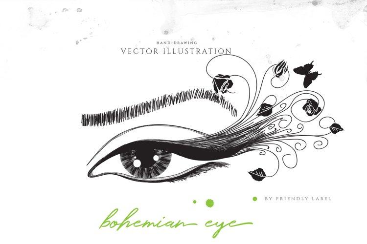 Bohemian Eye Illustration example image 1