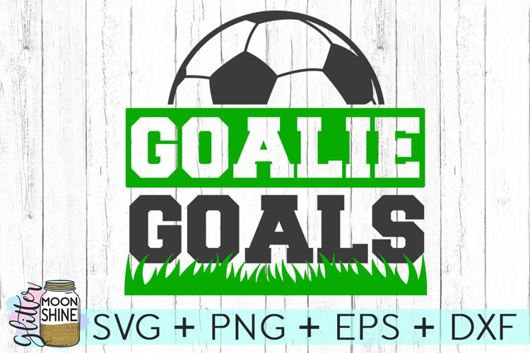 Goalie Goals Soccer SVG DXF PNG EPS Cutting Files example image 1