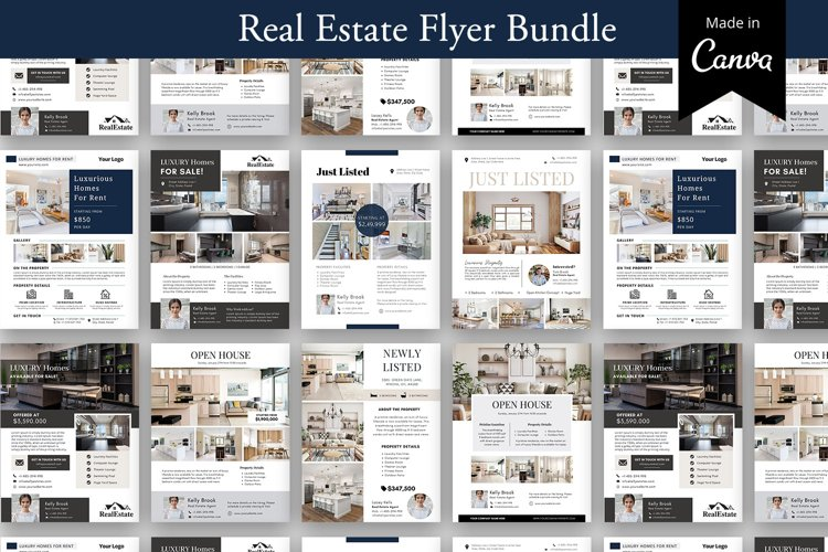 Real Estate Flyer Bundle, Real Estate agent Marketing