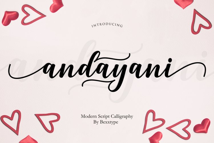 Andayani Script || Specials Valentine's Day example image 1