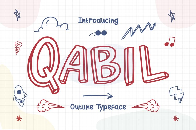 Qabil - Outline Typeface example image 1