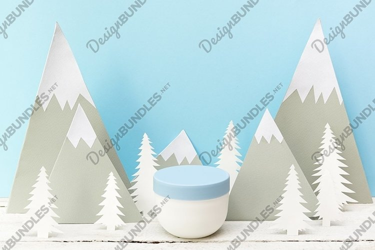 winter skin care product cosmetic cream example image 1