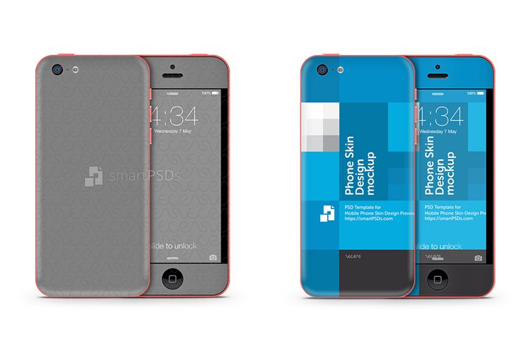 Apple iPhone 5C Mobile Skin Design Template 2013 example image 1