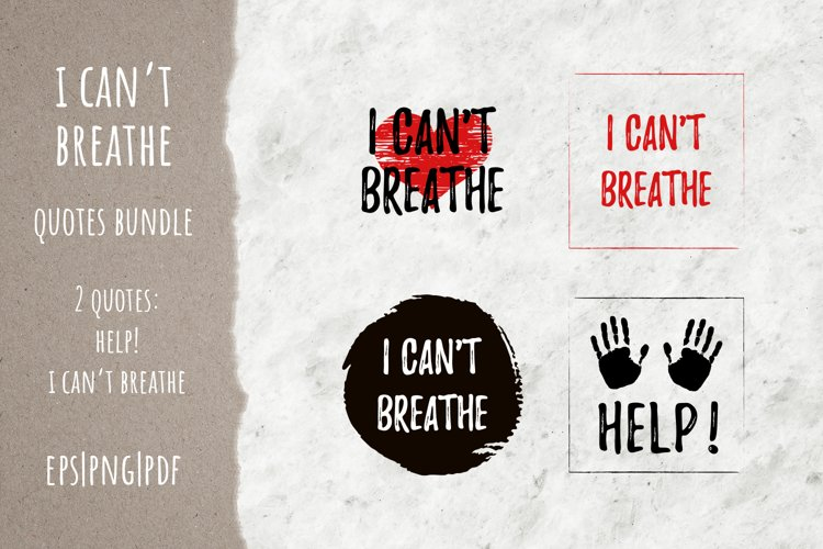 I can't breathe quote bundle EPS | PNG | PDF example image 1