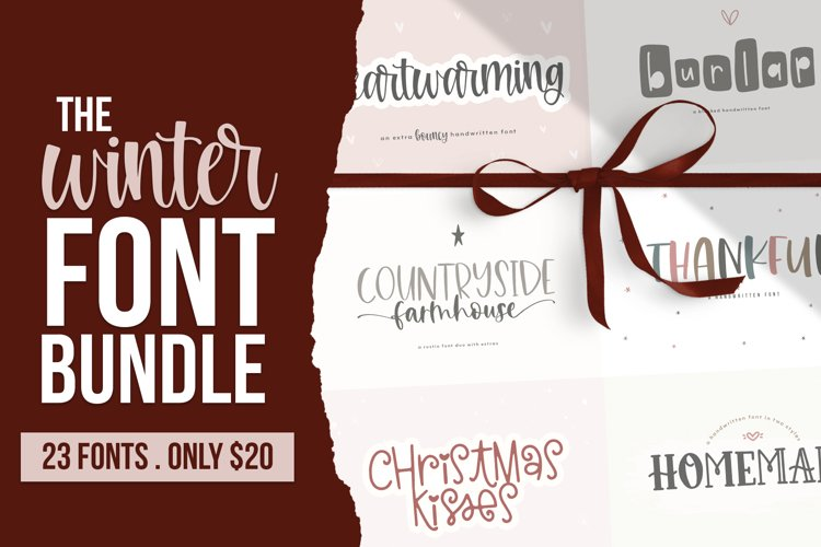 Winter Font Bundle - Handwritten Fonts for Crafters! example image 1