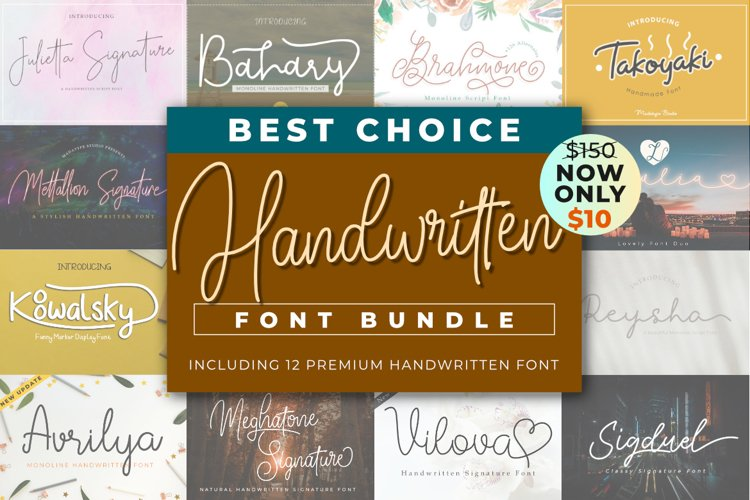 Best Choice Handwritten Font Bundle example image 1