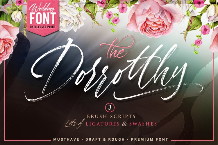 Dorrotthy script 3 fonts & swashes example image 1