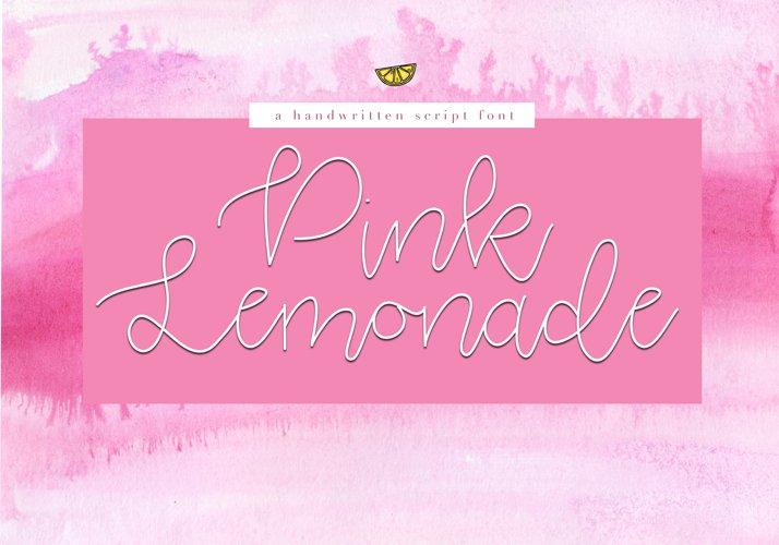 Pink Lemonade - Script Font example image 1