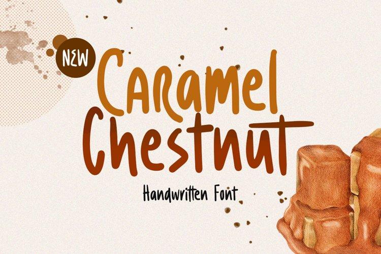 Caramel Chestnut - Handwritten Font example image 1