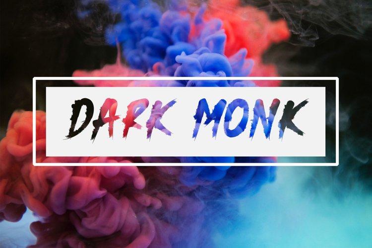 Dark Monk - Brush Font example image 1