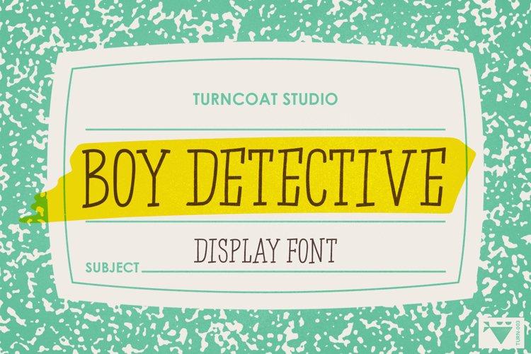 Boy Detective - Display Font