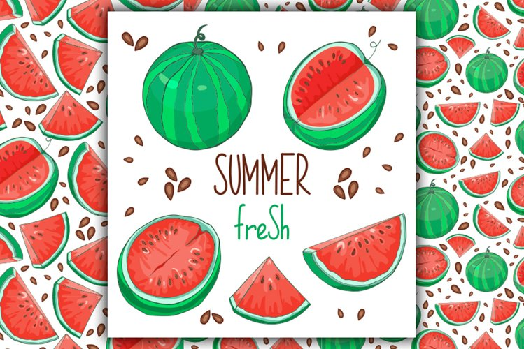 Watermelon Vector Clipart example image 1