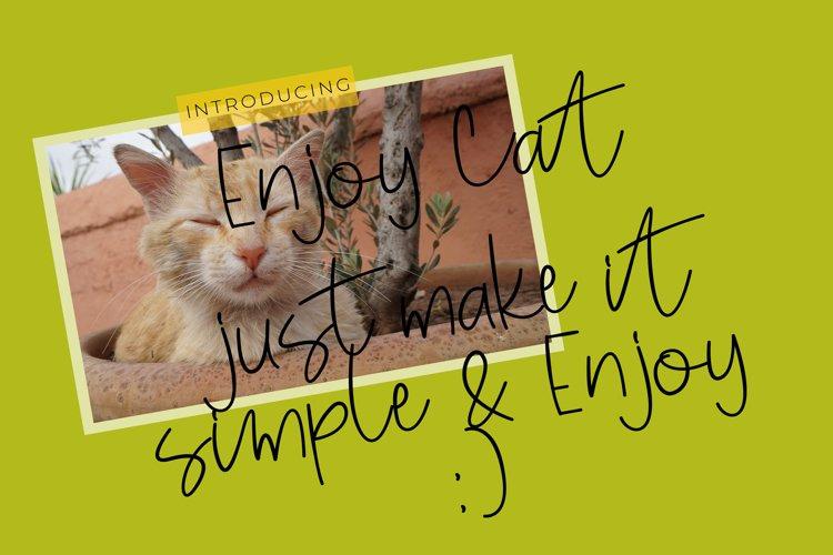 Enjoy cat font script example image 1