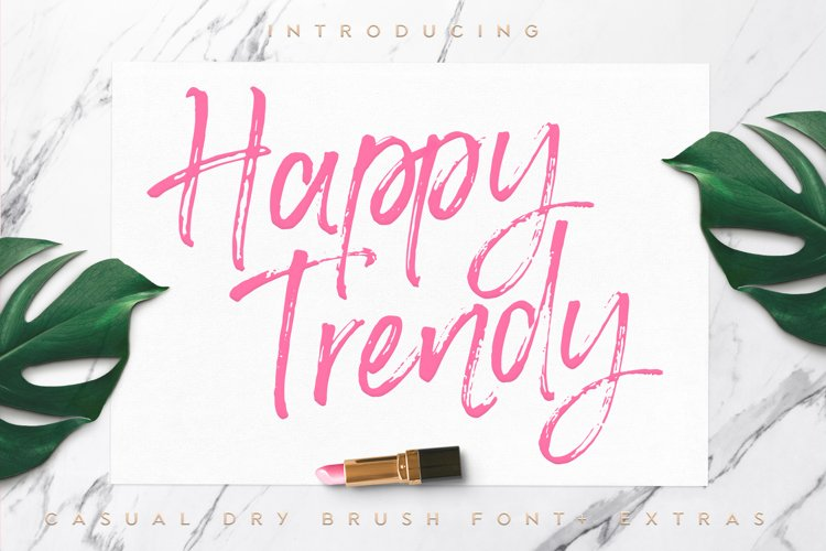 Happy Trendy Font + Extras