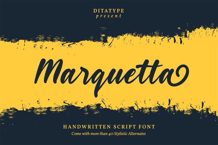 Marquetta Handwritten Font example image 1