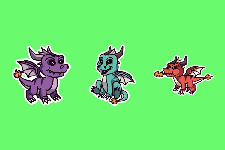 Dragon Sticker Illustrations example image 1