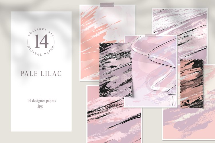 Abstract digital paper pack. Blush pink and purple example image 1