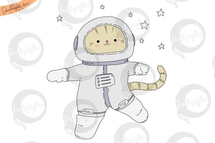 Astronaut Cat | PNG/JPEG | Cute Clip Art Illustration