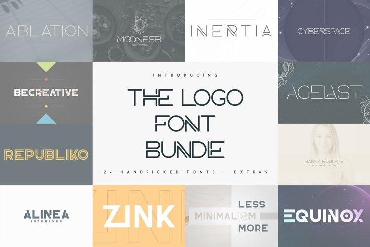 The Logo Font Bundle - 24 fonts example image 1