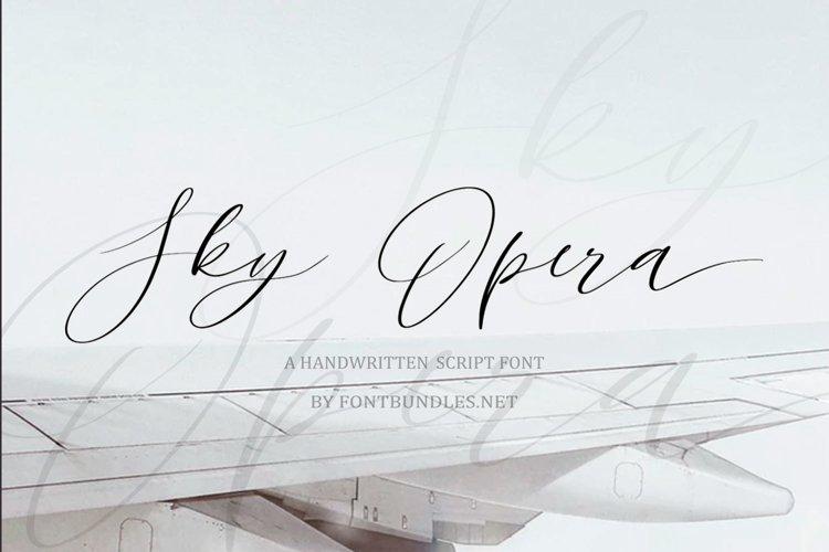 Web FontSky Opera. A Handwritten Script Font example image 1