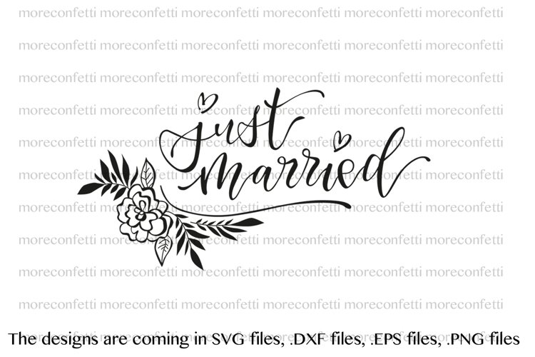 just married - lettering