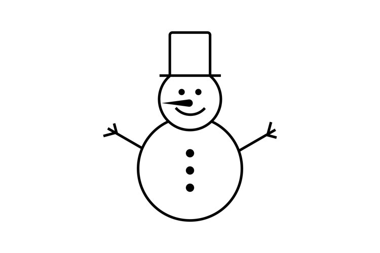 Snowman icon line style. Good symbol for your business example image 1
