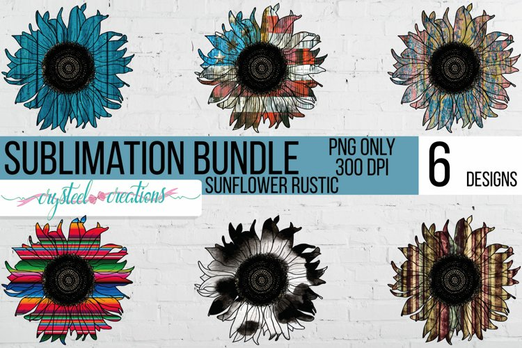 Sublimation Sunflower Bundle Rustic 300dpi PNG files