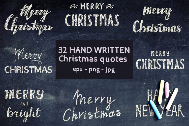32 Handwritten Christmas and New Year quotes