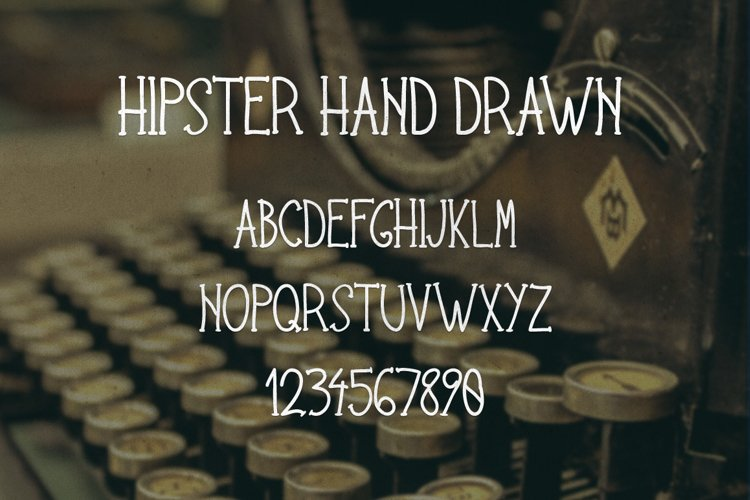 Hipster Hand Drawn Font example image 1