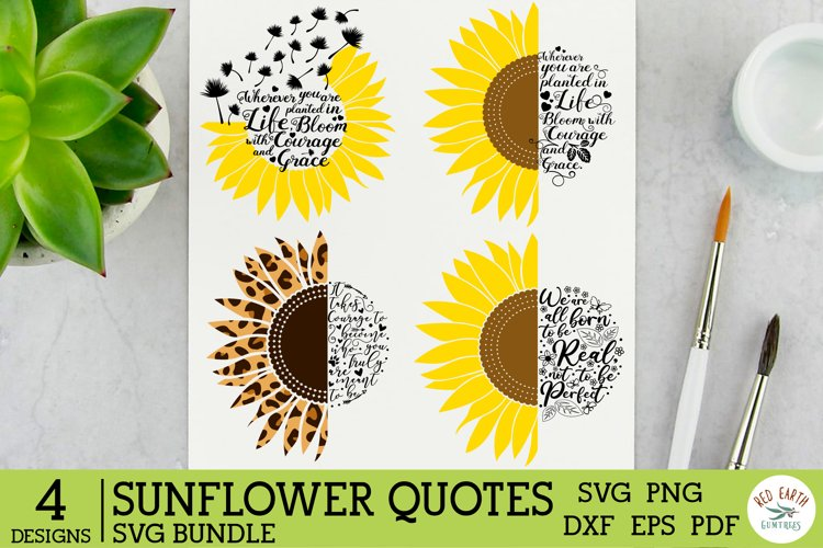 Sunflower quote saying bundle SVG,Sunflower rustic farmhouse