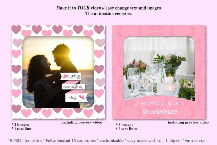 MOCKUP - Animated Instagram templates, Wedding, inc. custom example 3