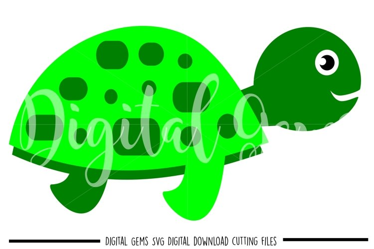 Turtle SVG / EPS / DXF files example image 1
