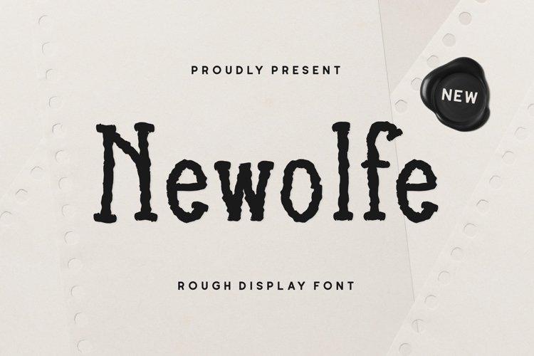 Newolfe Display Font example image 1