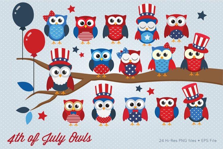 4th of July Owl Onesie