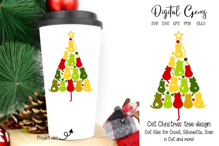 Cat Christmas tree SVG / PNG / EPS / DXF files