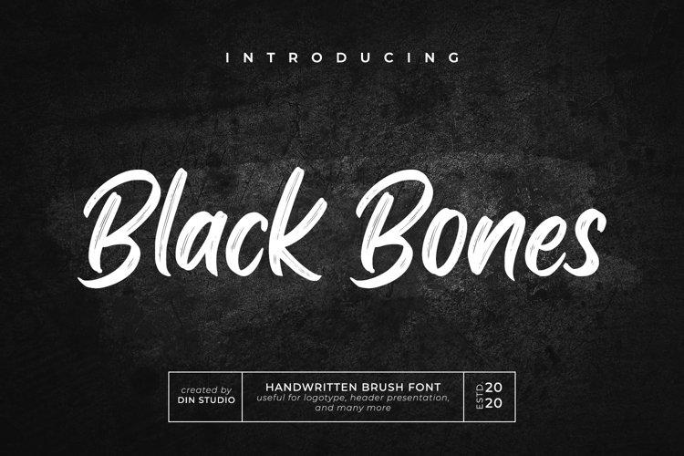 Black Bones-Brush Font example image 1