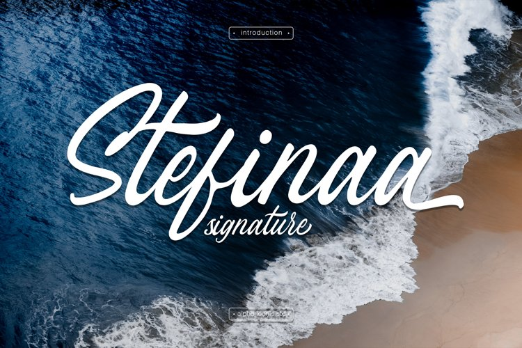 Stefina Signature - Modern Script example image 1