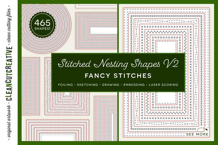 Stitched Nesting Shapes V2 Fancy Stitches | sketch foil SVG