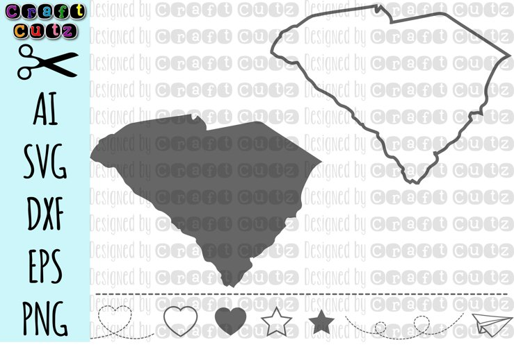 SOUTH CAROLINA svg, State svg Files, South Carolina Vector, United States svg, State Clip Art, South Carolina Cut File, South Carolina State Outline example image 1