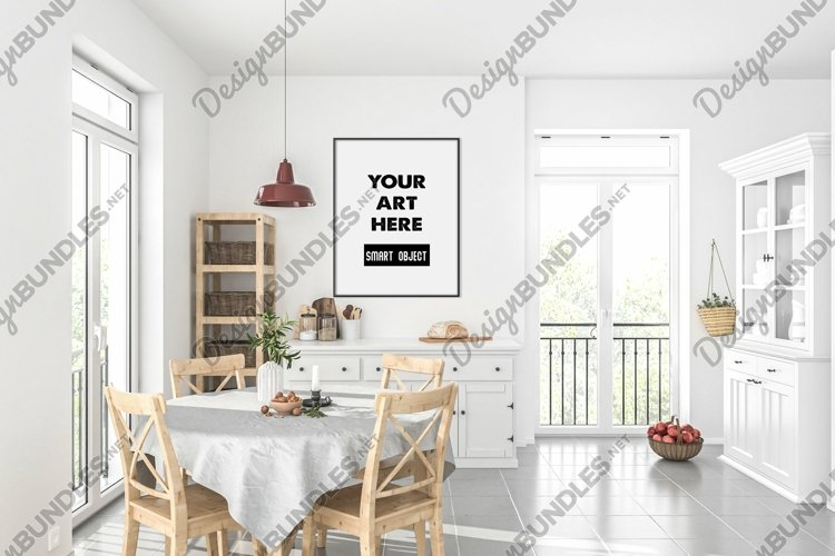 Vertical frame mockup - movable & scalable frame example image 1