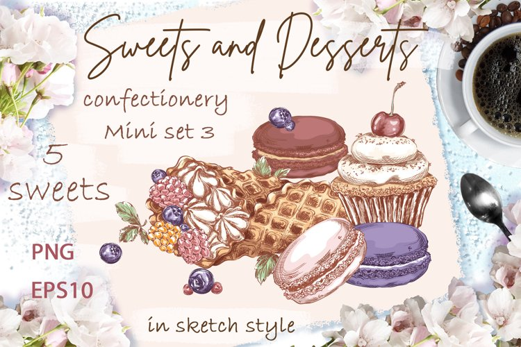 Sweets and desserts. Mini-set 3 example image 1