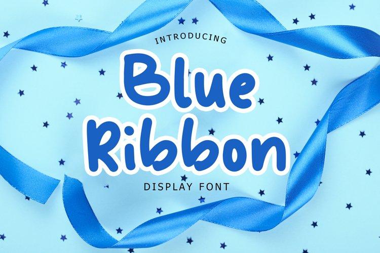 Blue Ribbon Fun Display Font example image 1