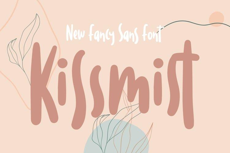 Web Font Kissmist - Fancy Sans Font example image 1