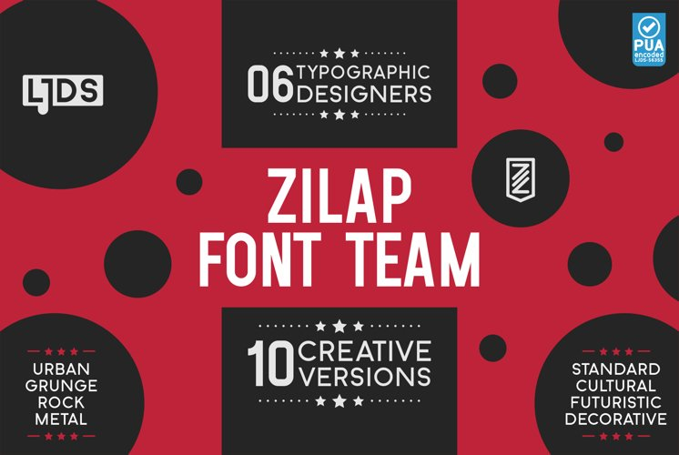 PACK PROMO 5 Zilap Font Team example image 1
