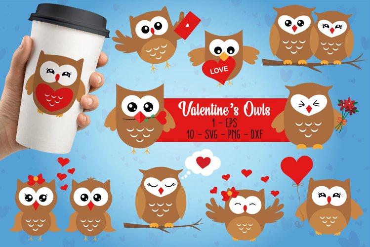 Valentines Owls Bundle, Happy Valentines Day Bundle