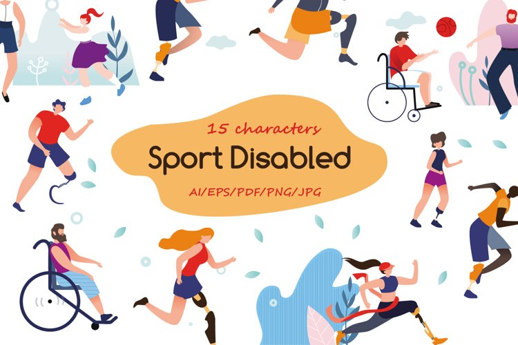Sport Disabled Flat Collection example image 1