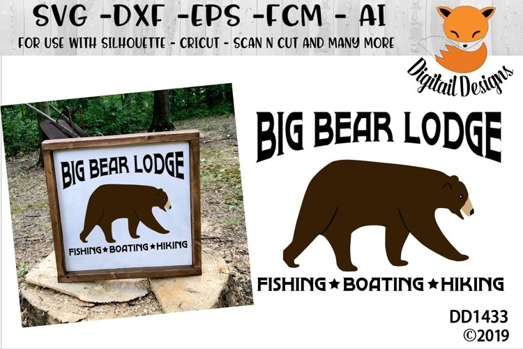 Big Bear Lodge SVG example image 1