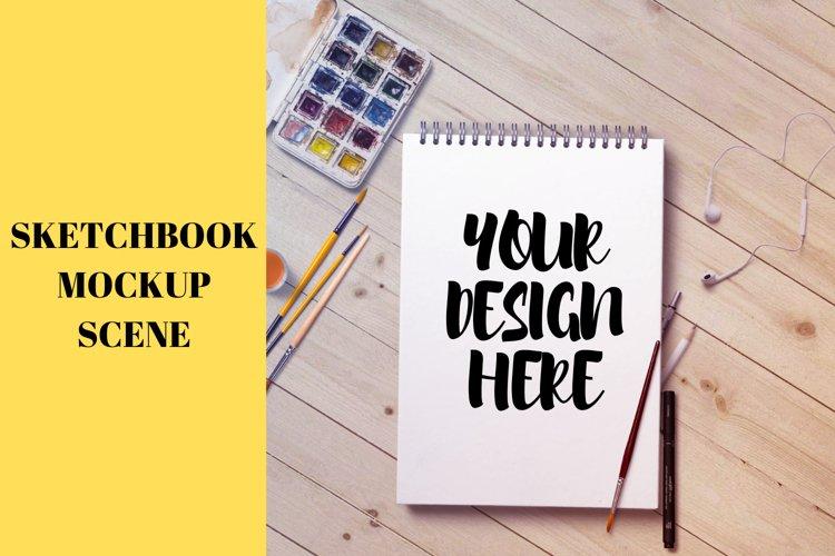 Sketchbook Mockup Scene | 2160x2160 example